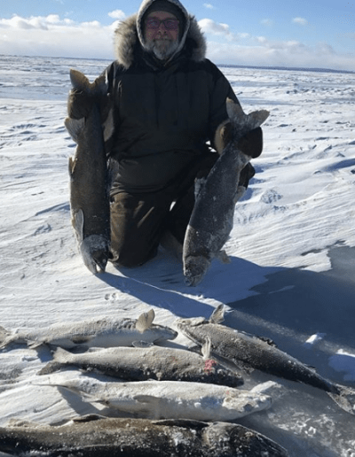 Lake Simcoe Whitefish and Lake Trout Ice Fishing Outdoor Junkys Guide Services