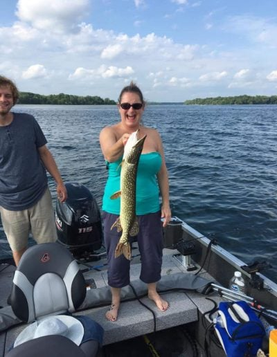 Northern Pike Fishing on Lake Couchiching with Outdoor Junkys Guide Services