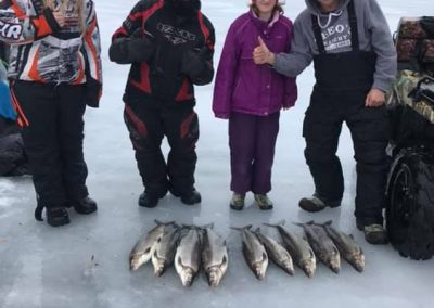 Whitefish on Lake Simcoe Ice Fishing at Outdoor Junkys Guide Services